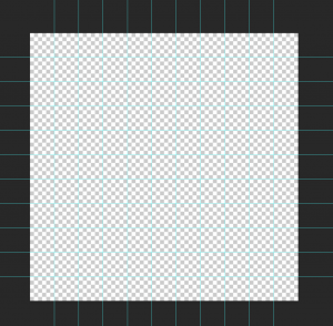 Sprite grid with guidelines