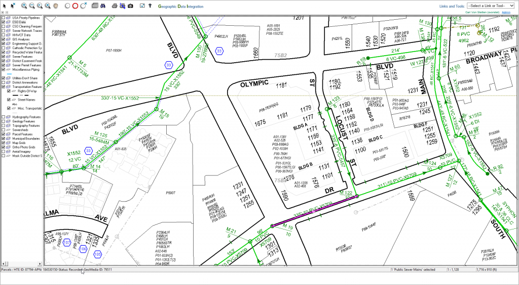 An example of our old MapGuide web map interface within a ColdFusion application.