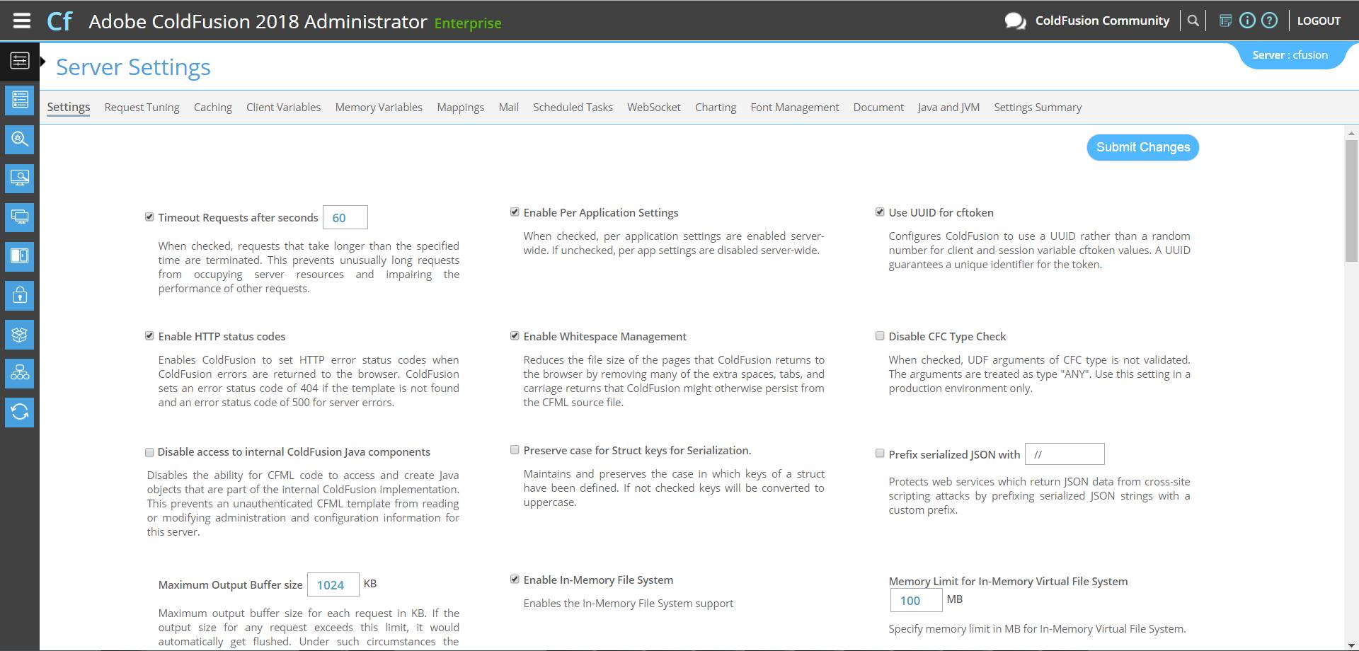 New Administrator UI in ColdFusion - ColdFusion