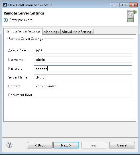 Remote Server Settings