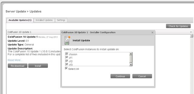 ColdFusion 10 Hotfix Installation Guide - ColdFusion
